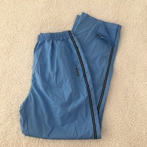 Reebok light blue swishy track pants high waist S
